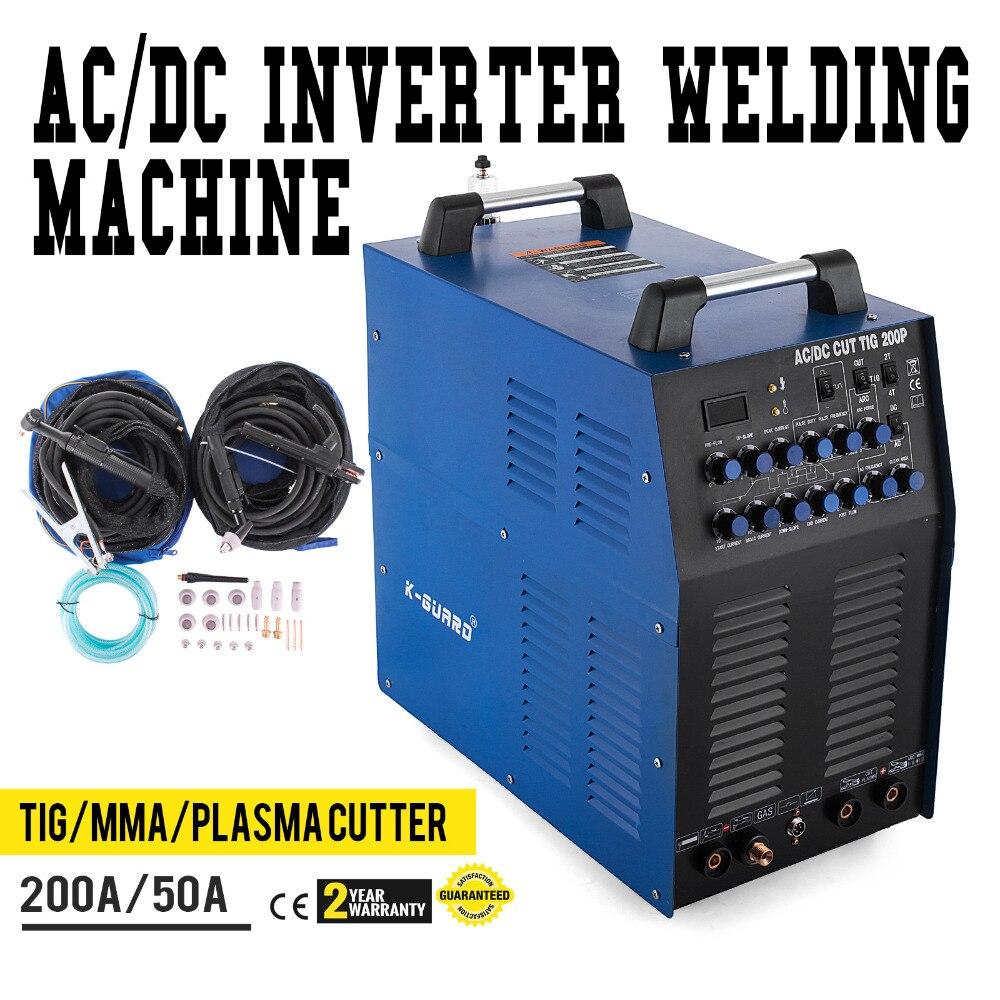 Schweißer AC/DC TIG 200 Amp PULS MMA ARC Schweißer Und 50 EINE Plasma Cutter