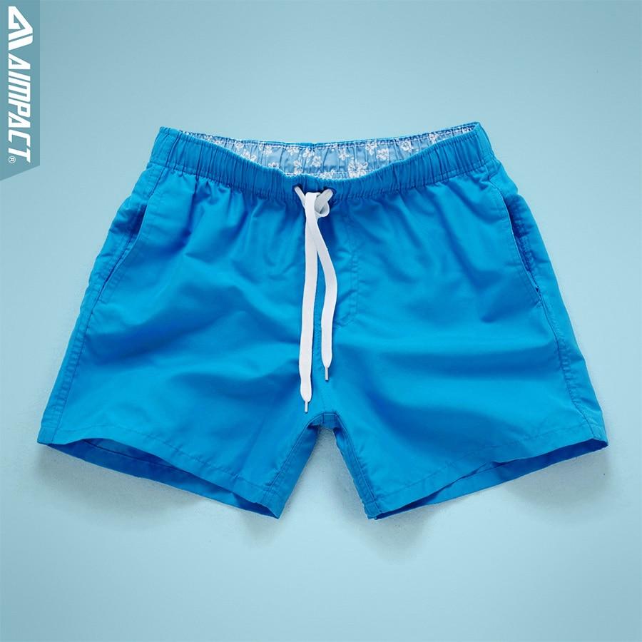 Aimpact Quick Drying Men's Board Shorts Summer Casual Men Shorts Fashion Sexy BeachSurf Shorts for Men Fast Dry Trunks Man PF55