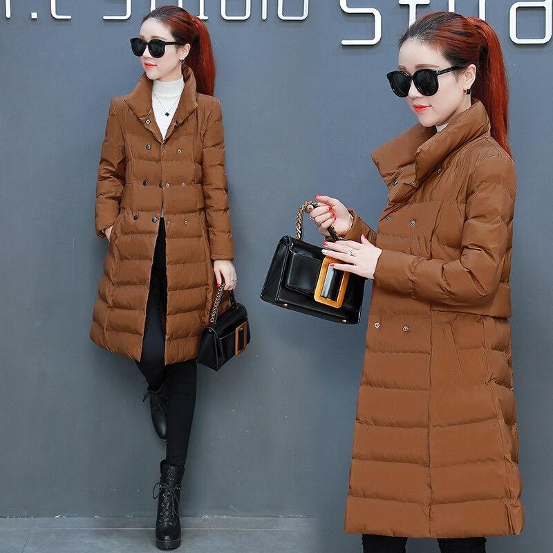 Red purple Vers Coton Femmes Breasted Orange And brown Nouveaux black Ourterwear De Le Mode Double Veste Chaud Tnlnzhyn Hiver E379 2019 Bas Manteau 1Y8wEnqzEH