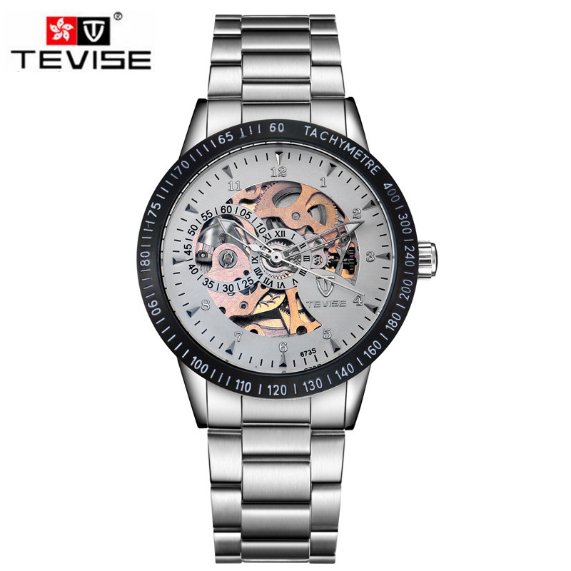 ФОТО Tevise Casual Men's Relogio Masculino Orologio Uomo Skeleton Auto Watch Mechanical Watches Wrist Watches Gift Box Free Ship