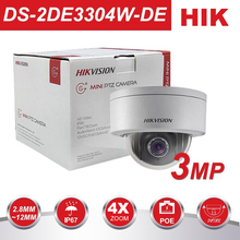 цены HIK English Version CCTV Camera DS-2DE3304W-DE 3MP Network Mini PTZ Repositionable 2.8mm-12mm POE IP67 Pan Tilt Zoom ONVIF