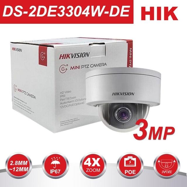 HIK PTZ Dome CCTV Camera DS-2DE3304W-DE 3MP Network Mini PTZ IP Camera PoE  2 8-12mm 3D Positionable IP67 Pan Tilt Zoom