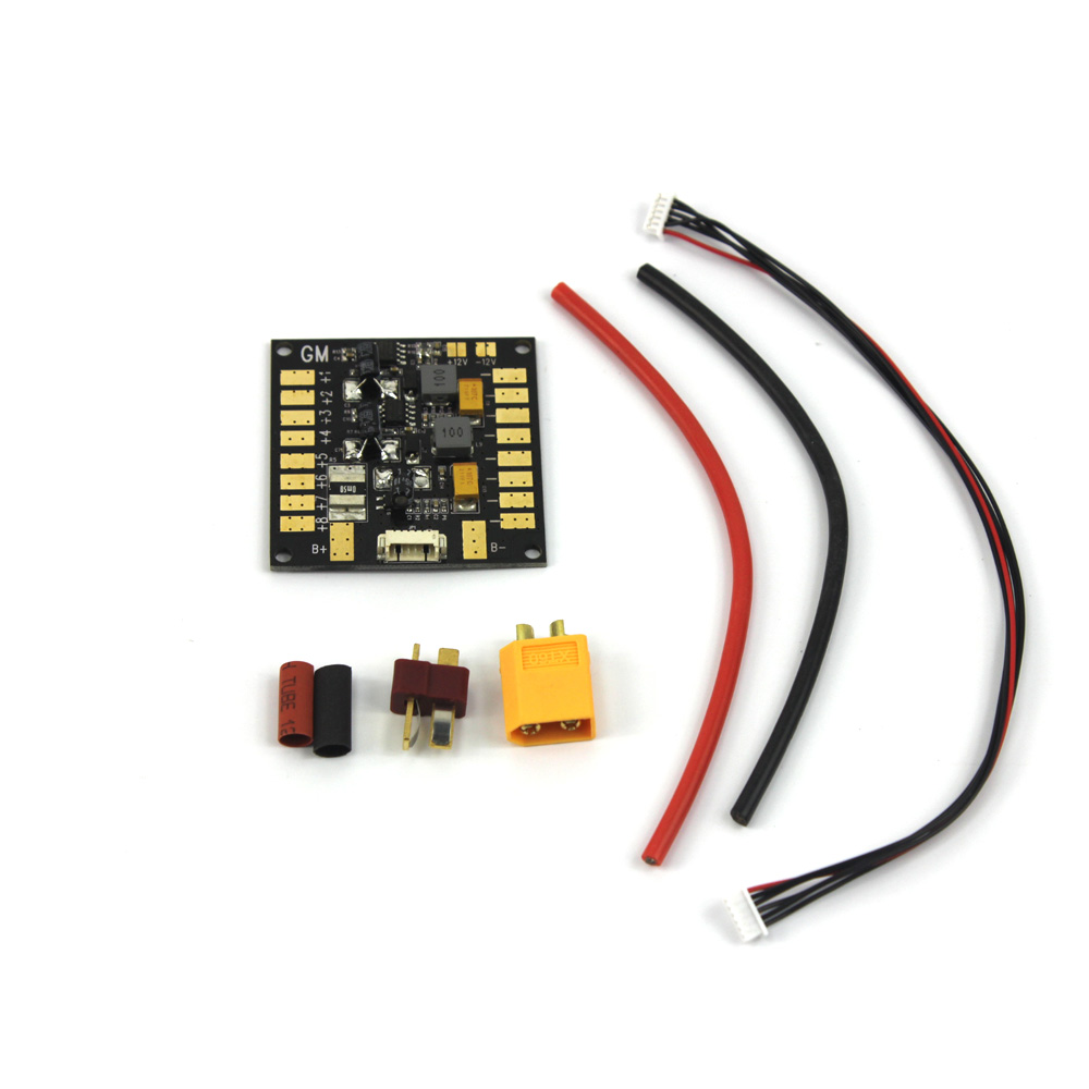 все цены на  F14589 Multifunction Power Distribution Board 5.3V BEC for 4-6S Battery Dual 12V Output FPV RC Multicopter ESC Motor APM Gimbal  онлайн
