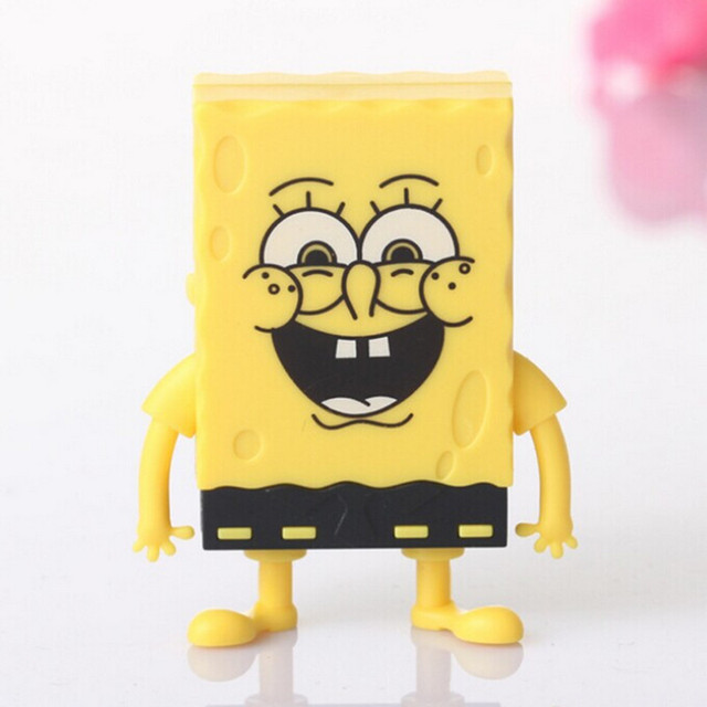 US $6 88 |Free Shipping Spongebob Squarepants Cartoon Mini Digital Music TF  Download Free Music MP3 Player With Micro TF/SD Card Slot-in MP3 Player