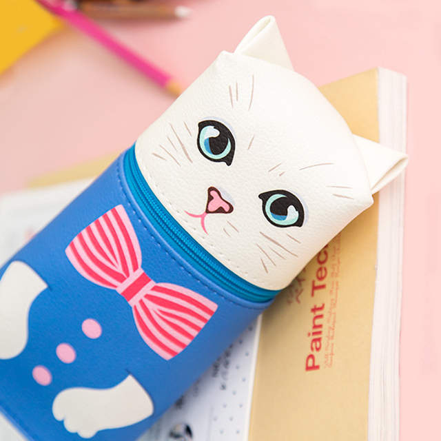48bed783f99a US $4.18 |Fromthenon Cartoon Cat Pencil Cases Cute Animal Kawaii Pencil Bag  Box Girls Kids Creative gift School Supplies Stationery Store-in Pencil ...