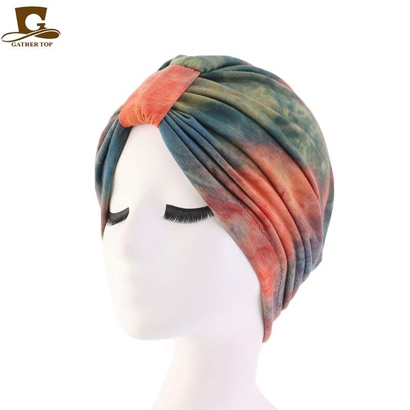 New Modal Turban Sleep Cap For Hair Loss Home Head Cover for Chemo Women