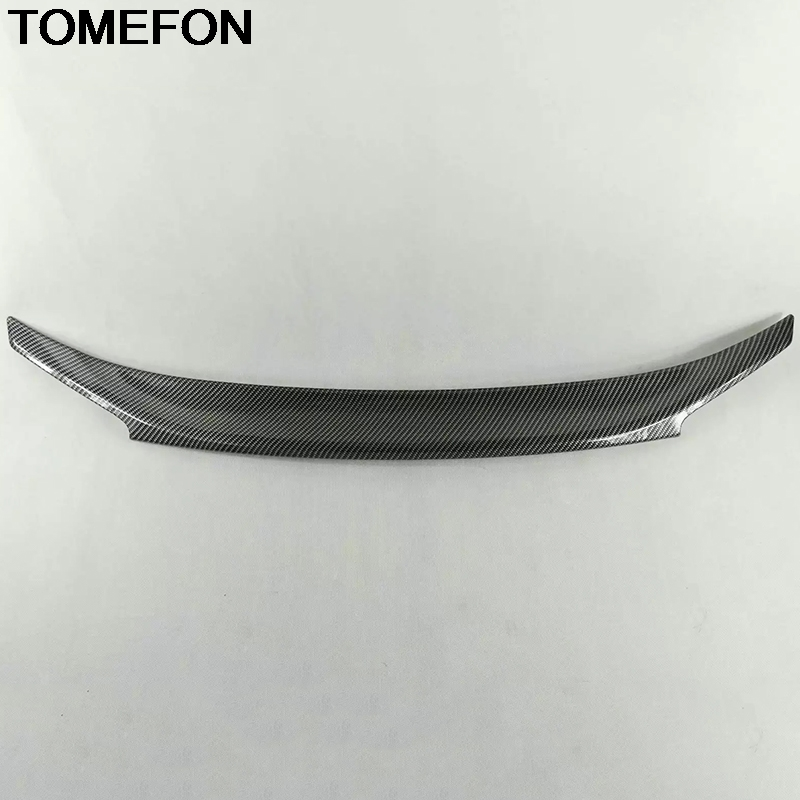 TOMEFON For Honda Civic 10th 2016 2017 2018 Sedan Car Rear Trunk Boot Spoiler Wing Cover Trim Styling Interior Accessories ABS