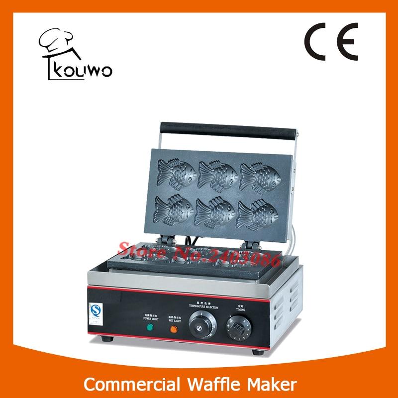 KOUWO Electric Korean Fish Crisp Baker Maker electric 6holes  slot crisp balls