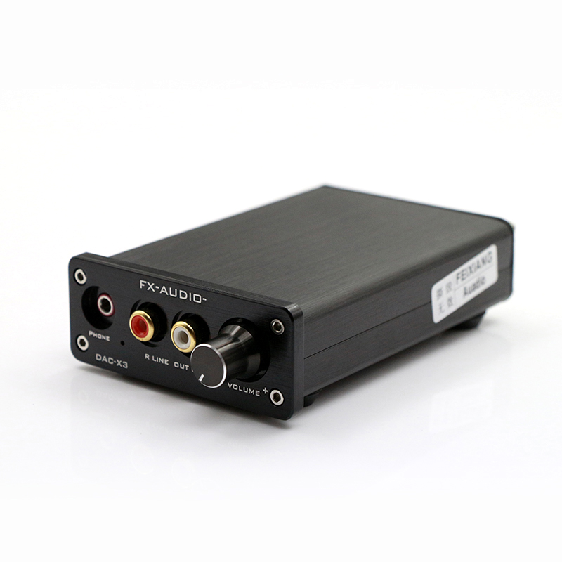 Lusya FX-AUDIO DAC-X6 Fiber Coaxial USB Decoder 24BIT/192Khz USB DAC Decoder audio amplifiers DC 12V