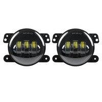 Atubeix Auto LED Driving Lamp Fog Light Round 4 Inch Passing Lamp For Jeep Wrangler JK
