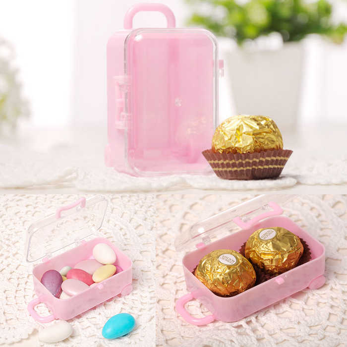 candy box bag chocolate gift traveling case for Birthday Wedding Party Decoration craft DIY favor baby shower Wh
