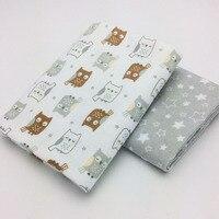 High Quality 2Pcs Lot 100 Cotton Flannel Baby Blanket Newborn Super Soft Cartoon Blankets Baby Receiving