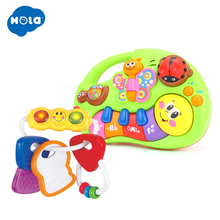 Early Educational Toys Baby Rattles & Learning Piano Free Shipping Huile Toys 306E & 927