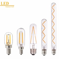 Dimmable 1W 2W 4W 6W 12W LED Filament Bulb T20 T25 T30 T45 Tubular Style Warm