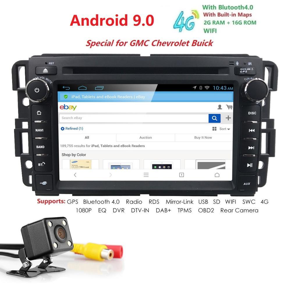 7 2 Din Android 9 0 Car Stereo Radio DVD Player For GMC Sierra Chevy Silverado