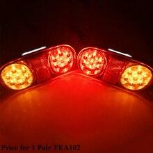 1 AOHEWEI 12 V 18 Đèn Led Xe kéo đèn phanh dừng lại vị trí đèn LED bật đèn Biển biển số đèn Đuôi Xe tải