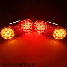 1 Pair AOHEWEI 12v 18 leds trailer light  brake stop position led light turn light License Plate number plate tail light truck
