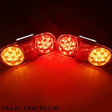 1 par AOHEWEI 12 v 18 led luz de freno del remolque de posición led luz de placa de licencia número de placa la luz de la cola del camión