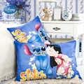 디즈니 lilio 스티치 mc 여왕 pillowcases 2 pcs 만화 미키 미니 공주 커플 베개 커버 장식 pillowscase 48x74cm