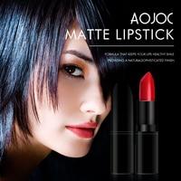 1pcs Professional Makeup Lipstick Long Lasting Pigment Dark Color Nude Matte Lipstick Aojoc Makeup