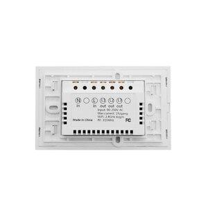 Image 5 - WS WiFi APP/מגע בקרת אור קיר מתג 1/2/3 כנופיית לוח קיר מגע אור מתג חכם google בית עם Alexa