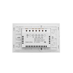 Image 5 - Ws Wifi App/Touch Control Muur Lichtschakelaar 1/2/3 Gang Panel Muur Touch Light Switch smart Google Thuis Met Alexa