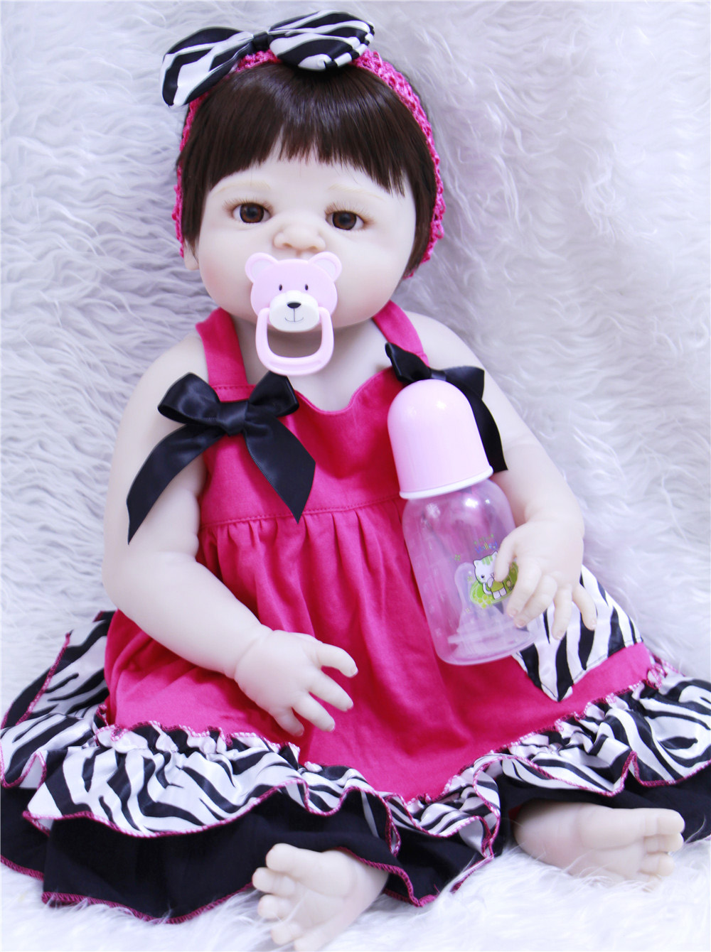 55 cm Reborn silicone complet bébé poupées réaliste poupées pour filles poupée Reborn Silicone souple boneca bebe vivant peau blanche princesse