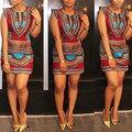 Mulheres Verão Estilo Étnico Sexy Com Decote Em V da Luva do Tampão Bodycon Acima do joelho Mini-Vestido