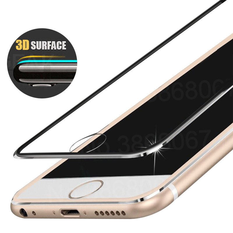 Moopok Tempered Glass For IPhone 7 8 Plus 3D Full Screen Protection Film For IPhone 5 5S SE Protector Film For IPhone 6 6s Plus