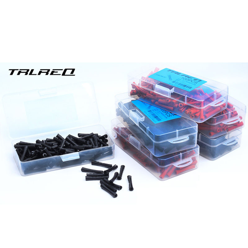 100pcs MTB Bicyle Bike Brake Wire End Cap Cable Sets Protective Sleeve Pipe Protector Housing Cover Rubber Shift Brake Cover аксессуар bbb bfd 13f mtb protector белый