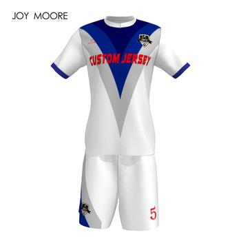 Tanie odzież sportowa dostosowywania w technologii sublimacji nowy Model zestawy piłkarskie zaprojektuj swój nowa piłka nożna zestaw tanie i dobre opinie Chłopcy JOY MOORE Pasuje prawda na wymiar weź swój normalny rozmiar Poliester any color soccer jersey 100 polyester