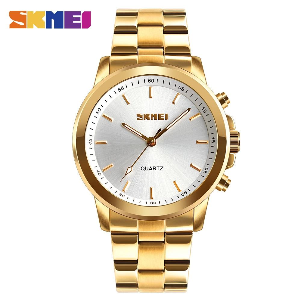 SKMEI Mens Watches Top Brand Luxury Business Bluetooth Smartwatch Call Reminder Quartz Wristwatches Relogio Masculino 2019