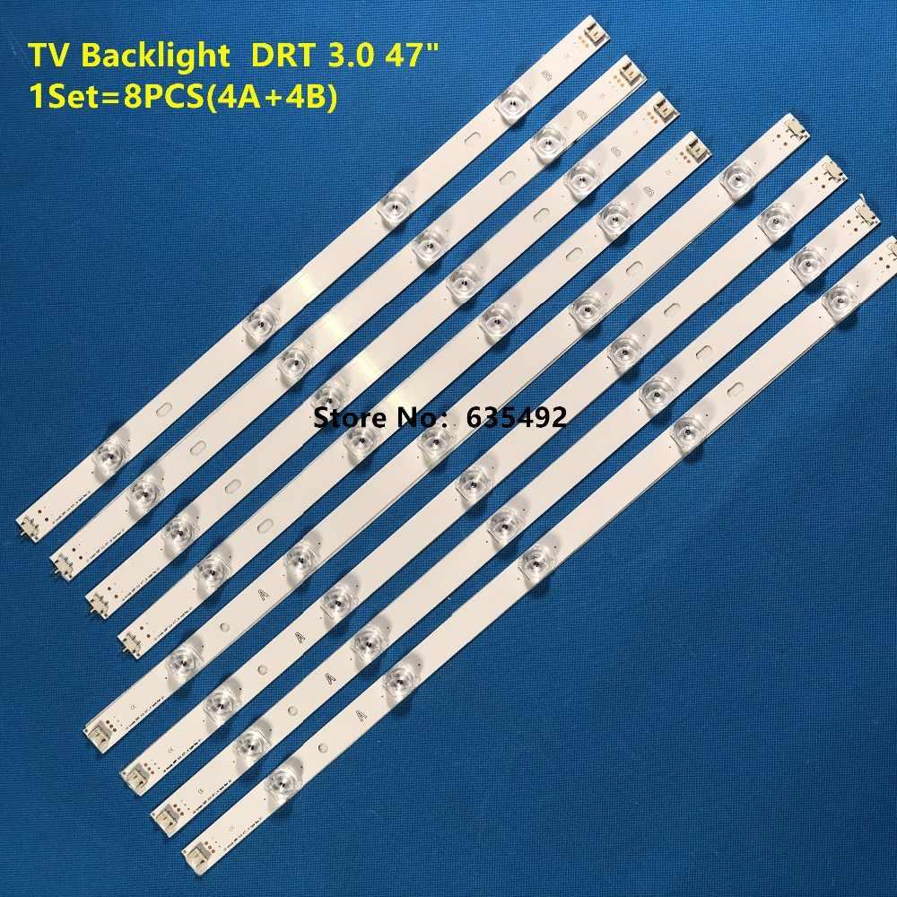 "Lampu Latar LED Strip untuk LG 47 ""TV Innotek DRT 3.0 47"" 6916L-1948A 1949A 47LB6300 47GB6500 47LB652V 47lb650v LC470DUH 47LB5610"