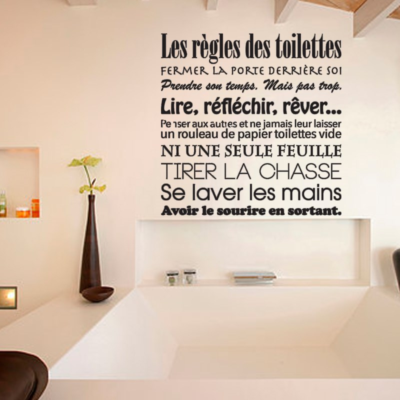 DIY Stickers French Toilet Rules Wall Sticker Toilet WC Vinyl Wall Decals  Mural Wall Art Wallpaper Home Decor House Decoration. Wc Wallpaper Reviews   Online Shopping Wc Wallpaper Reviews on