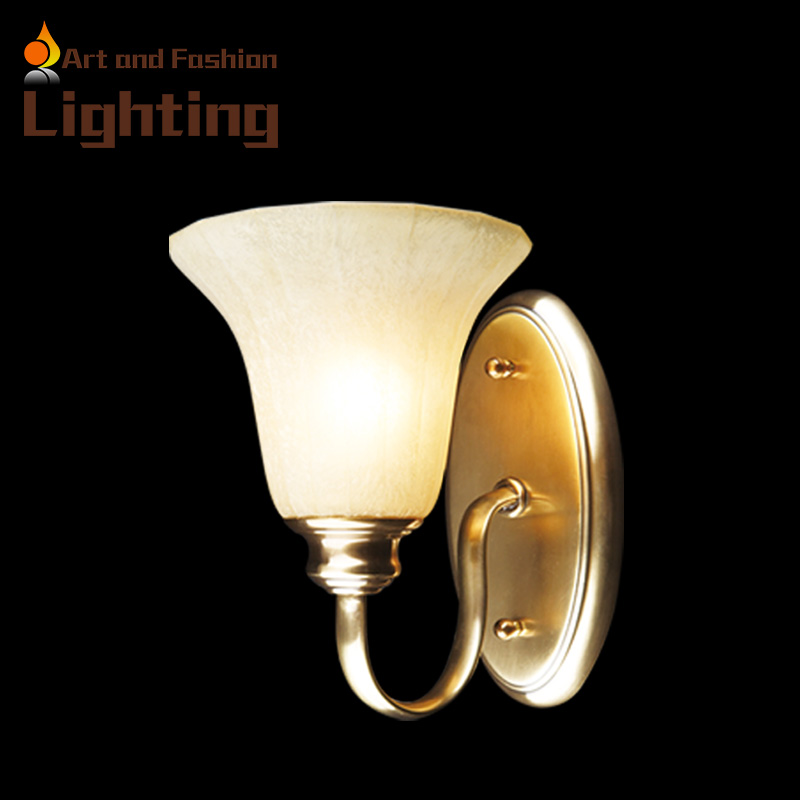 American country copper wall lamp Continental inimalist living room backdrop wall light bedroom bedside wall lamp SB50706-01