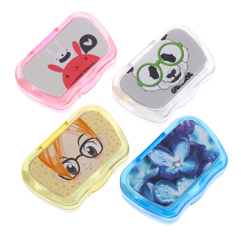 Cartoon Plastic Contact Lens Case Box Holder Storage Travel Portable Accessaries