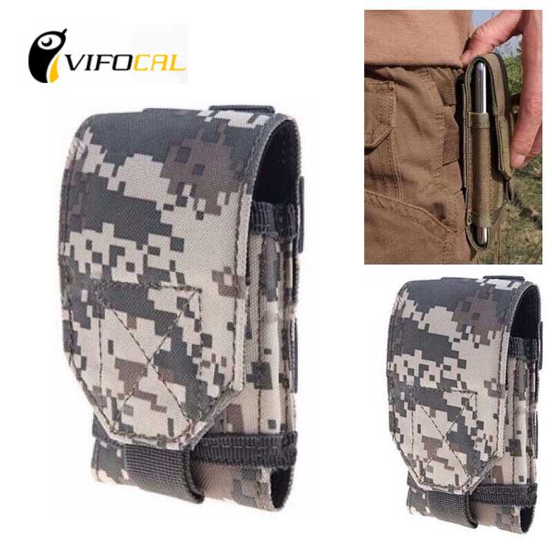 Mobile phone waist bag Large Size Army Camo Hook Loop Belt Pouch Sleeve Holster Cover Case For DOOGEE T6 Pro