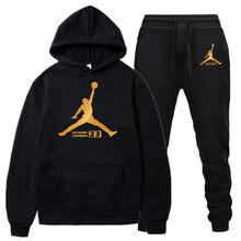 New men's hoodie warm sports suit Jordan 23 sportswear men's hooded sweatshirt(China)