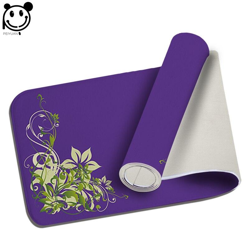 PEIYUAN font b Indoor b font Doormat Yoga Mat Door Mat Print Green Plant Flowers Floor