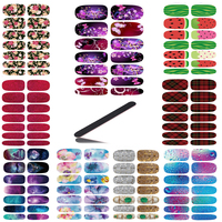 10pcs Set New Nail Art Stickers Metallic Jewel Fantasy Water Transfer Nail Tattoo Foils Decal Minx