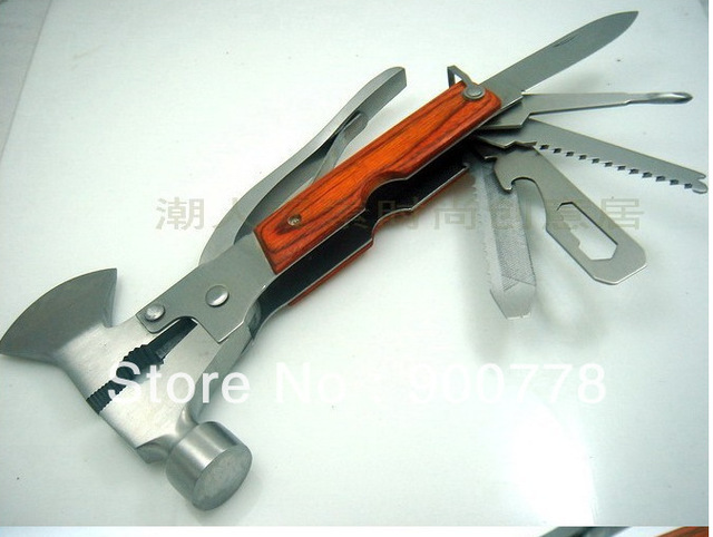 Car lifesaving hammer multi tool ax hammer screwdriver / ax / knife / saw / bottle opener / hammer Outdoor Products