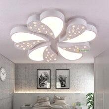 Moderne K9 Kristall Perle AC90 260V LED Acryl Deckenleuchte Wohnzimmer Licht Einfache Warme Und Runde Neue Weisse Deckenleuchten