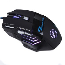 High Quality Professional Wired Gaming Mouse 7 Button 5500 DPI LED Optical USB Gamer Computer Mouse Mice Cable Mouse S0A09 T61