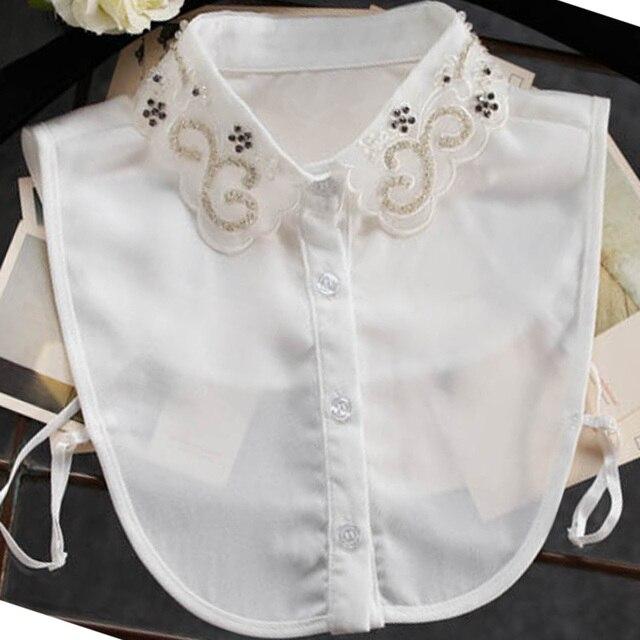 c519c6239 Blusa cristal perlas cristal collar chaleco cuello bordado ropa decorada  accesorios vintage