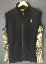 Browning весна зима 2019, мужской охотничий жилет, Полярный флисовый жилет, камуфляжный уличный теплый жилет, Быстросохнущий Спортивный жилет