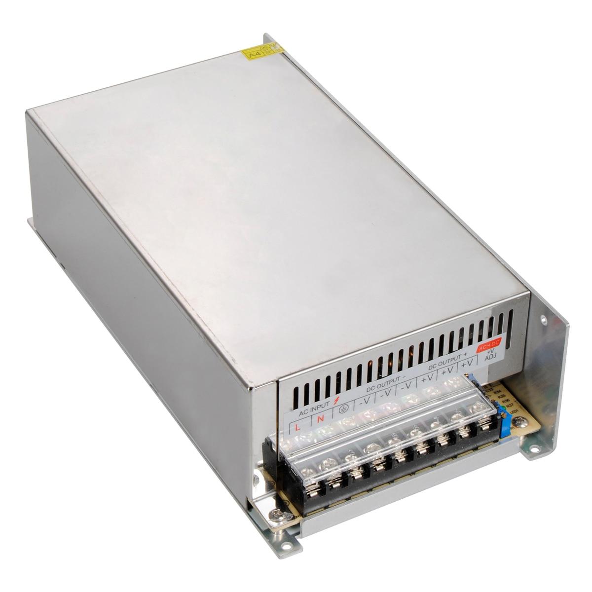 Nouveauté 24 V 25A 600 W pilote d'alimentation à découpage pour bande de LED AC 100-240 V entrée à 24 V