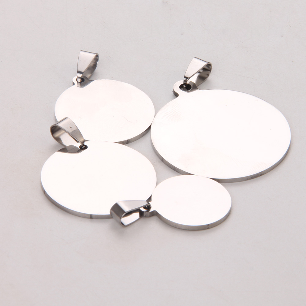 100PCs Stainless Steel Stamping Blank Pendant Polished Two Sides Jewelry Making