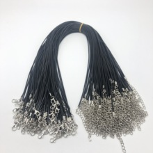 30pcs/1.5mm lot Wholesale Black Leather Rope Cord Necklace Chain DIY String Strap Rope Lobster Clasp Leather Jewelry Chains45cm wholesale 20pcs lot 1 5mm multicolor leather cord wax rope chain necklace with lobster clasp diy jewelry accessorie z570 page 3
