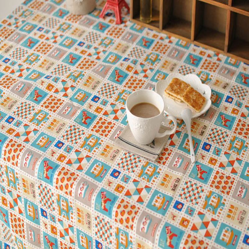Bohemian style trojan Cotton Linen rectangle tablecloth cover for Kid's Party children birthday Home table cloth textile 7 sizes