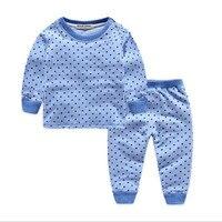 Berymond Kids Thermal Underwear 3 Colors Cotton Thick Boys Pyjamas Girls Sets For Winter Children Long